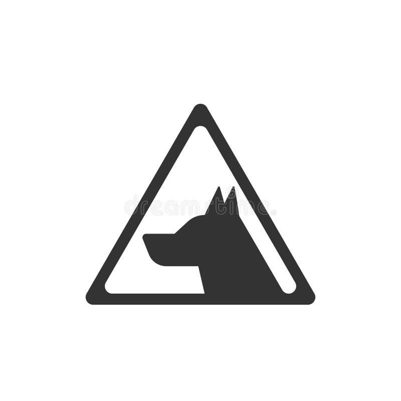 Symbol för vektor för farahundtecken varnande S?kerhetsvektorsymbol royaltyfri illustrationer