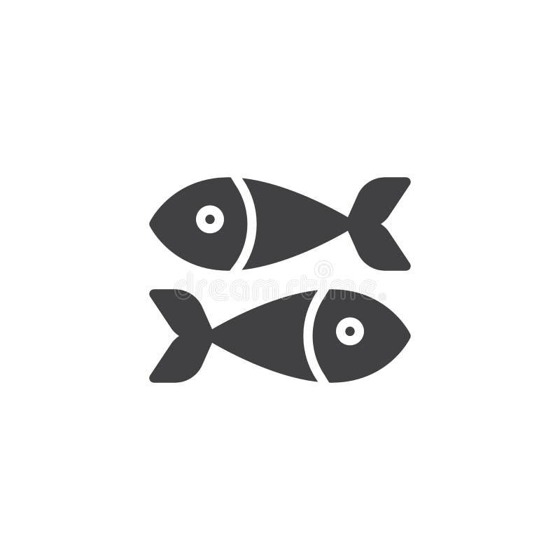 Symbol för vektor för fiskmat royaltyfri illustrationer
