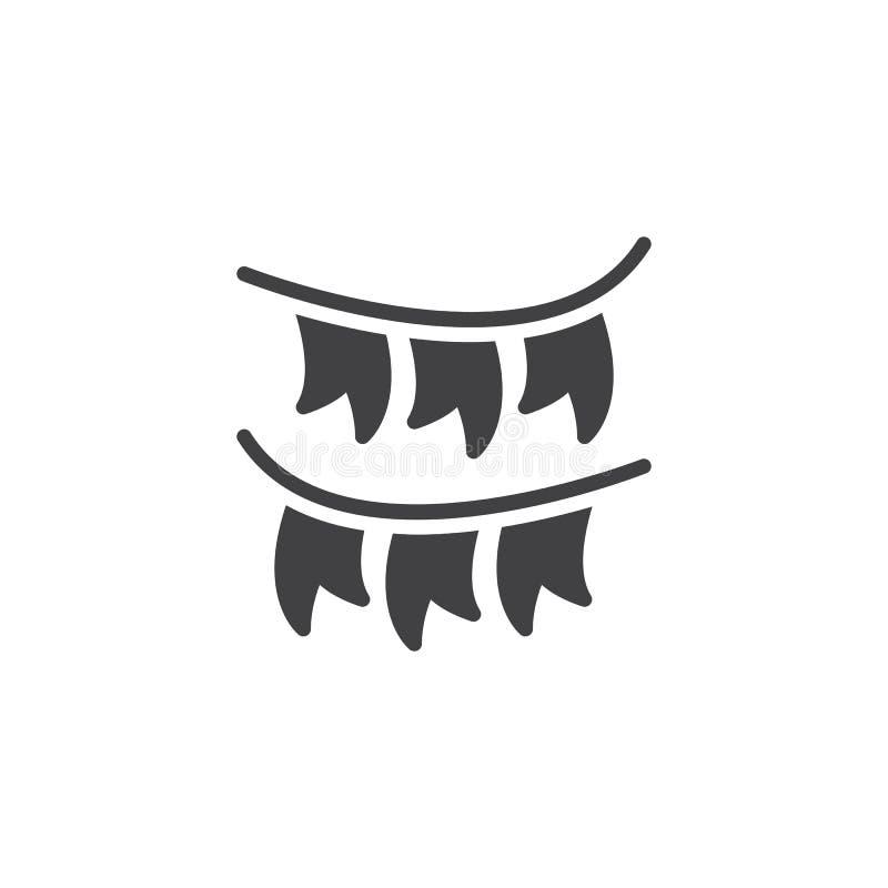 Symbol för vektor för flaggor för partigarneringbunting stock illustrationer