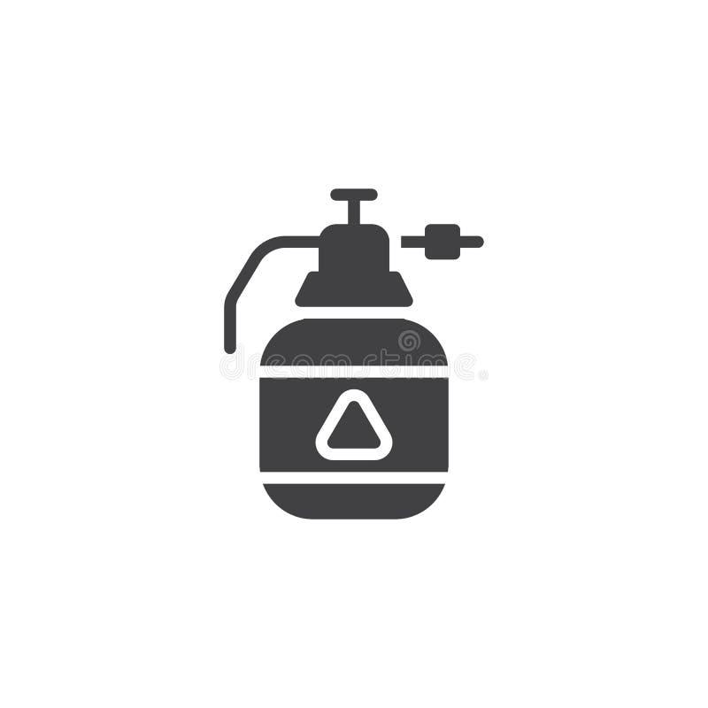 Symbol för vektor för flaska för utmatare för krypimpregneringsmedel vektor illustrationer