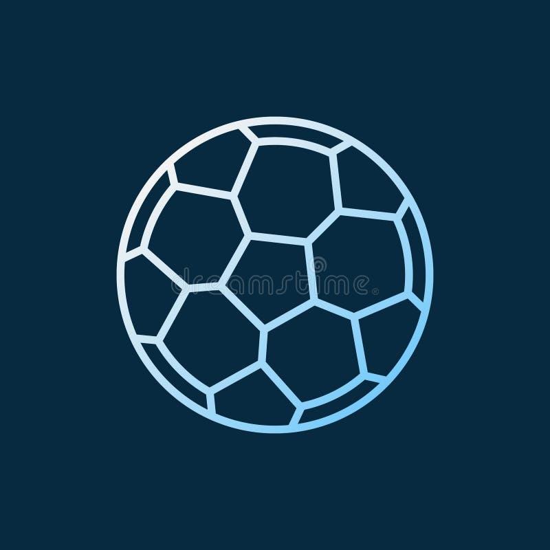 Symbol för vektor för fotbollboll linjär kulör Fotbollbollsymbol royaltyfri illustrationer