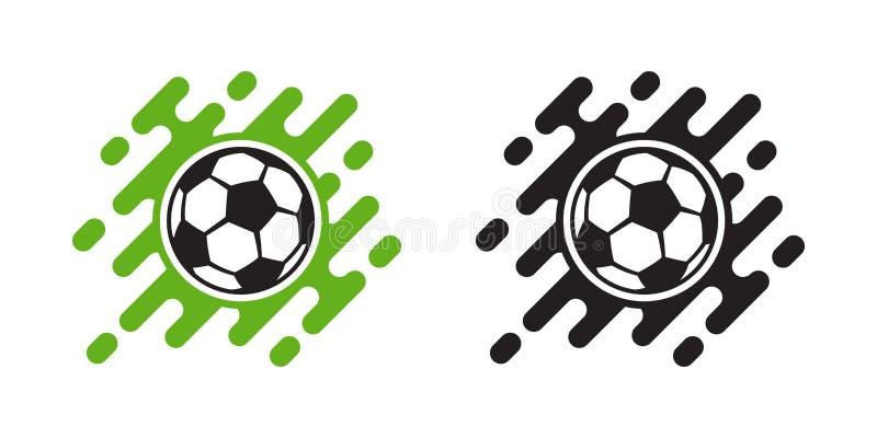 Symbol för vektor för fotbollboll som isoleras på vit Fotbollbollsymbol vektor illustrationer
