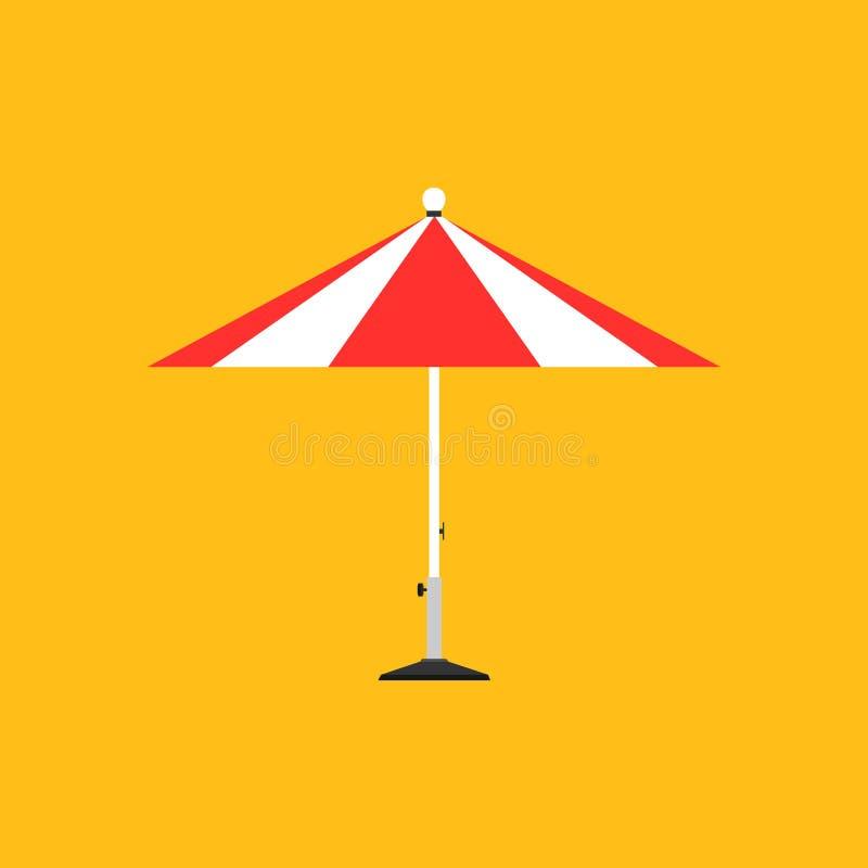 Symbol för vektor för fritid för sommar för tecken för strand för kust för natur för solparaply Lopp för ferie för beståndsdel fö vektor illustrationer