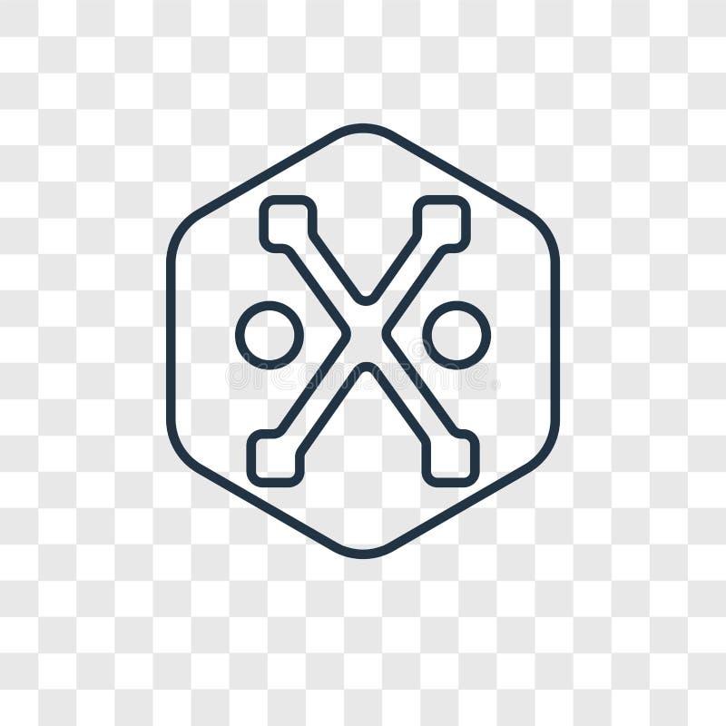 Symbol för vektor för gudvägledningsbegrepp som linjär isoleras på genomskinligt vektor illustrationer