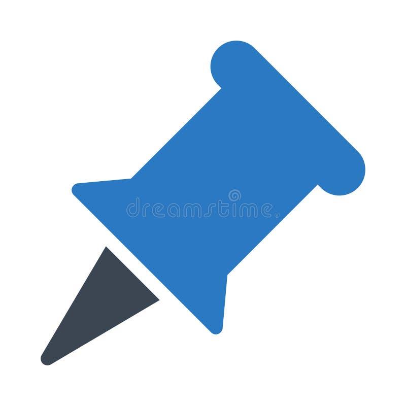 Symbol för vektor för häftstiftskårafärg plan vektor illustrationer