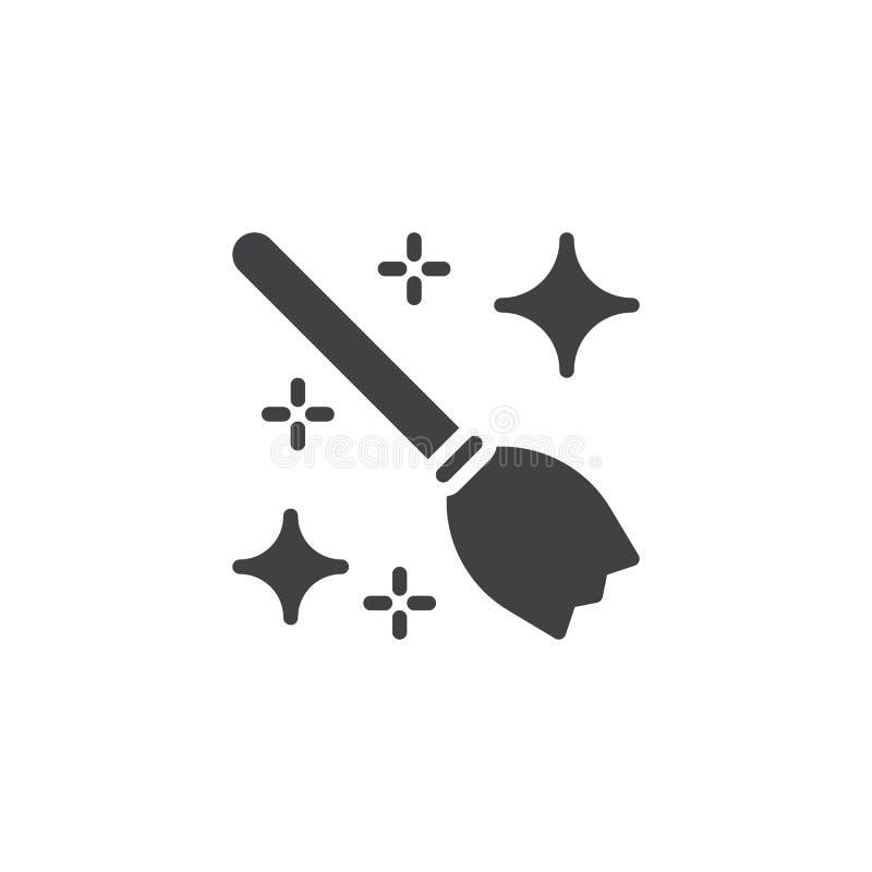 Symbol för vektor för häxakvast royaltyfri illustrationer