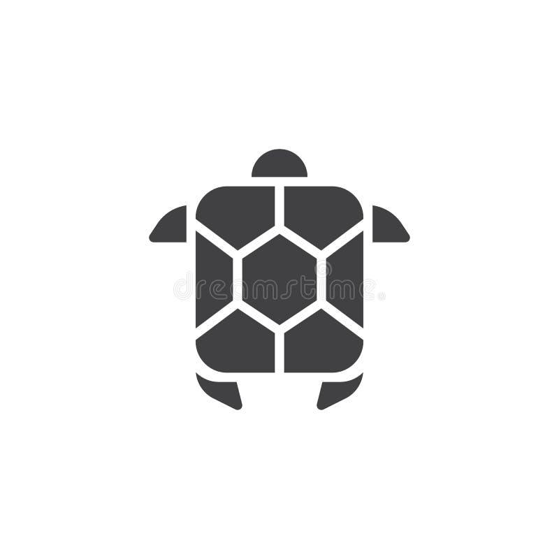 Symbol för vektor för havssköldpadda royaltyfri illustrationer