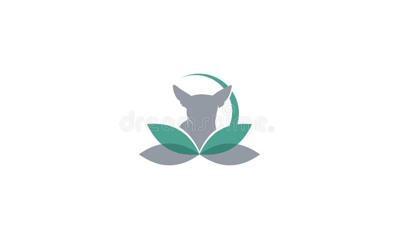 Symbol för vektor för hundväxtlogo royaltyfri illustrationer