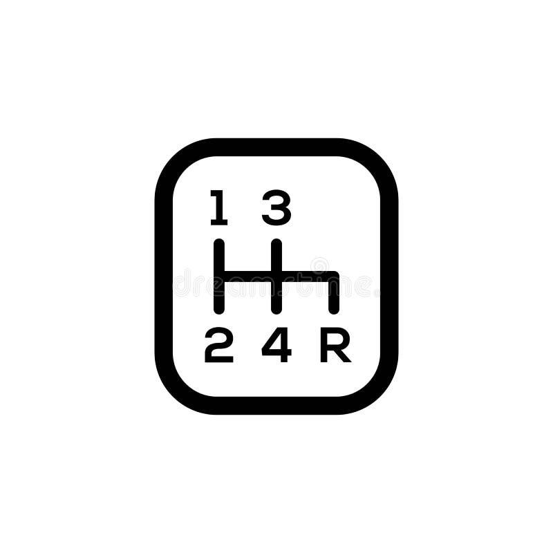 Symbol för vektor för knopp för kugghjulförskjutning vektor illustrationer