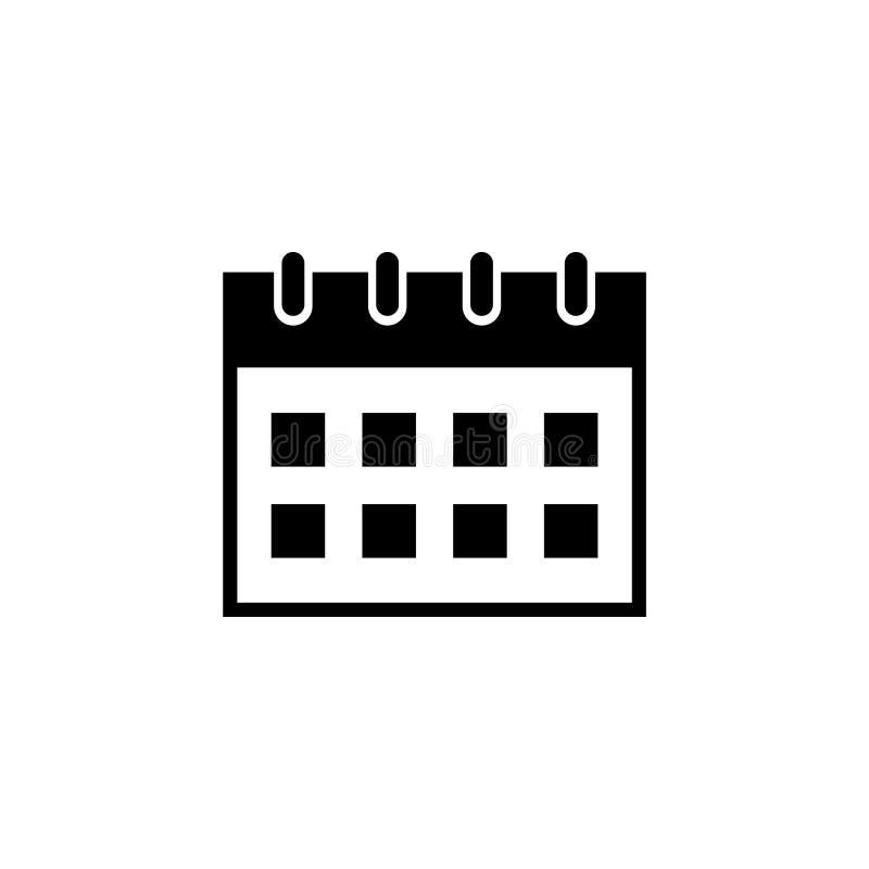 Symbol för vektor för kontorskalender plan royaltyfri illustrationer