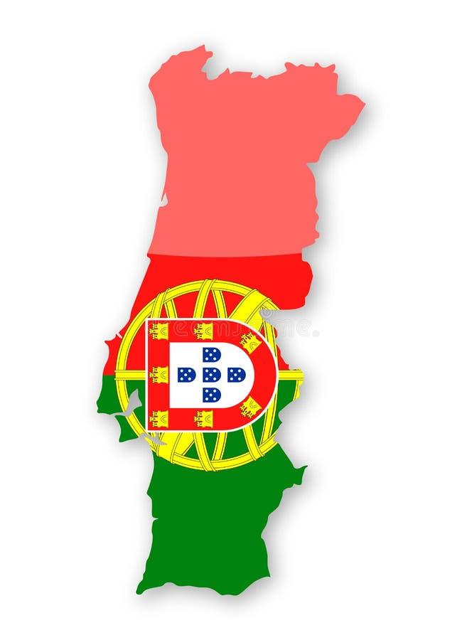 Symbol för vektor för kontur för Portugal flaggaland vektor illustrationer
