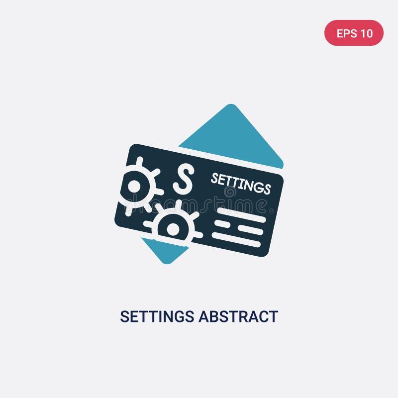 Symbol för vektor för kort för affär för två färginställningar abstrakt från annat begrepp isolerad för affärskort för blåa instä stock illustrationer