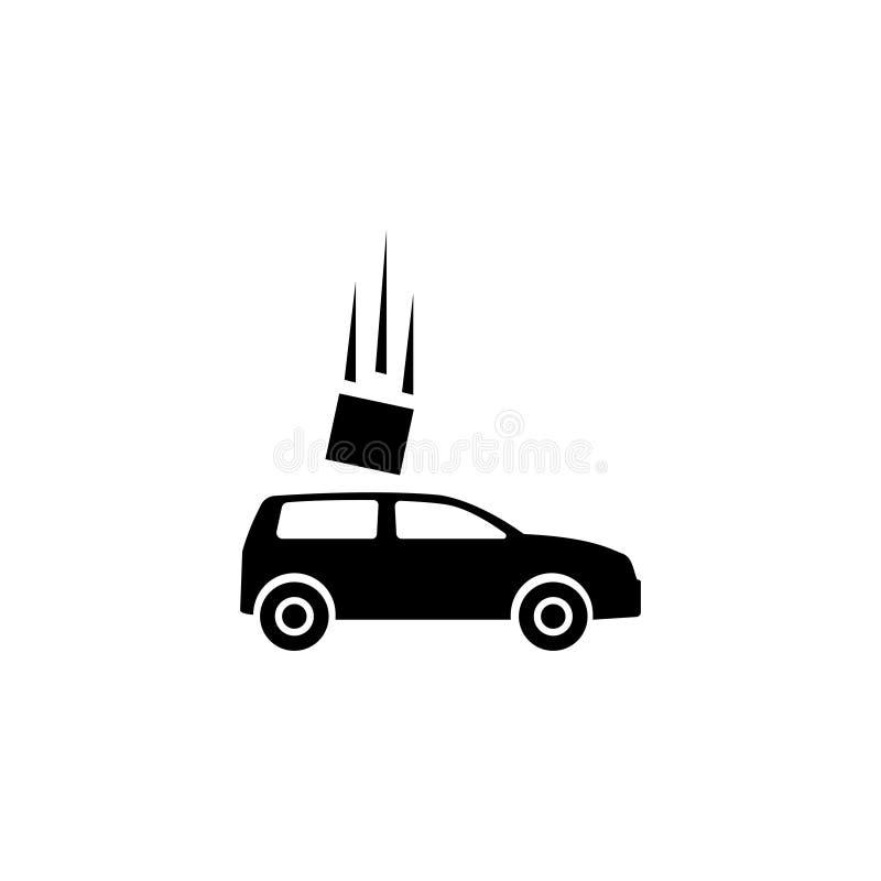 Symbol för vektor för lägenhet för bilolycka vektor illustrationer