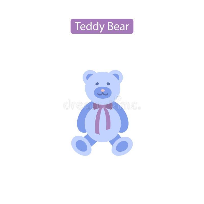 Symbol för vektor för lägenhet för nallebjörn royaltyfri illustrationer