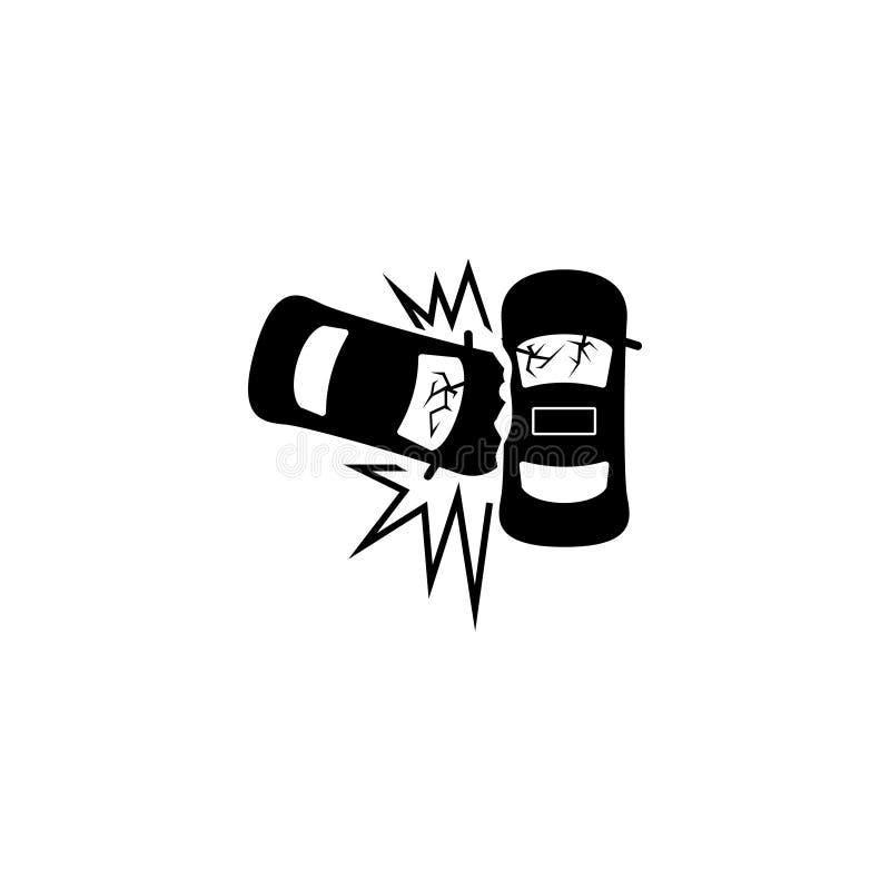 Symbol för vektor för lägenhet för olycka för bilkrasch royaltyfri illustrationer