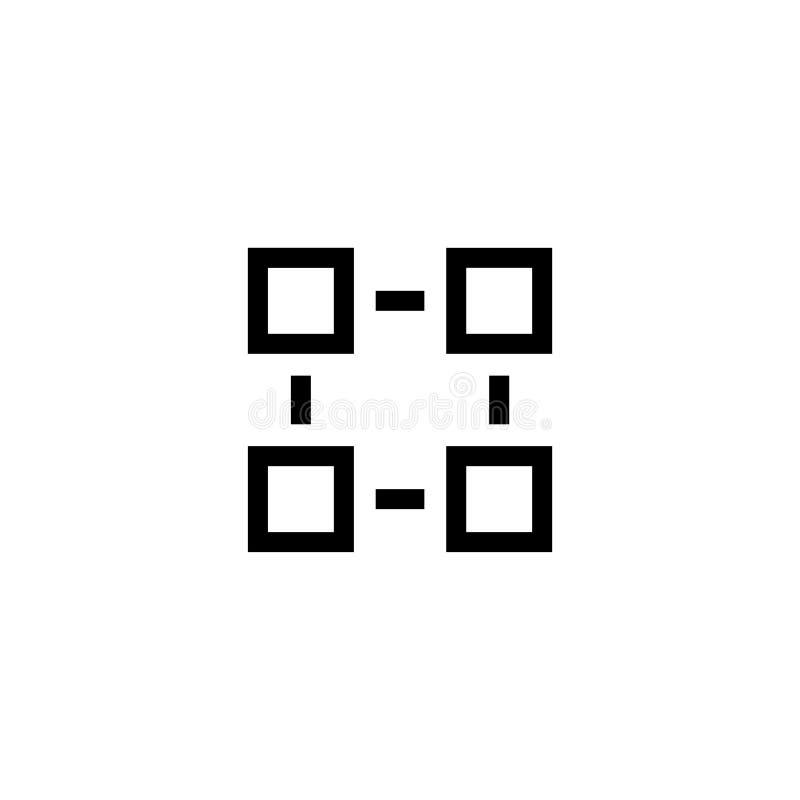 Symbol för vektor för lägenhet för organisationsstruktur stock illustrationer
