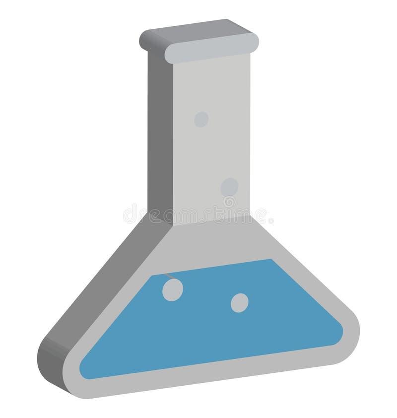 Symbol för vektor för labbprov redigerbar isolerad vektor illustrationer