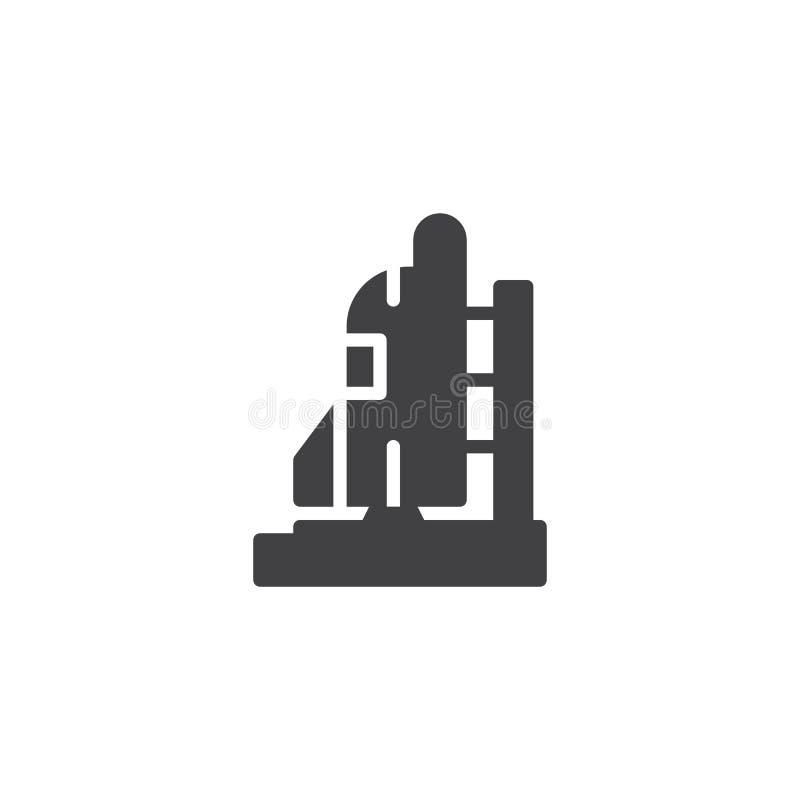 Symbol för vektor för lansering för utrymmeraket stock illustrationer