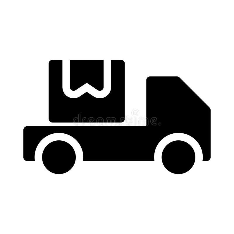 Symbol för vektor för lastbilskåra plan stock illustrationer