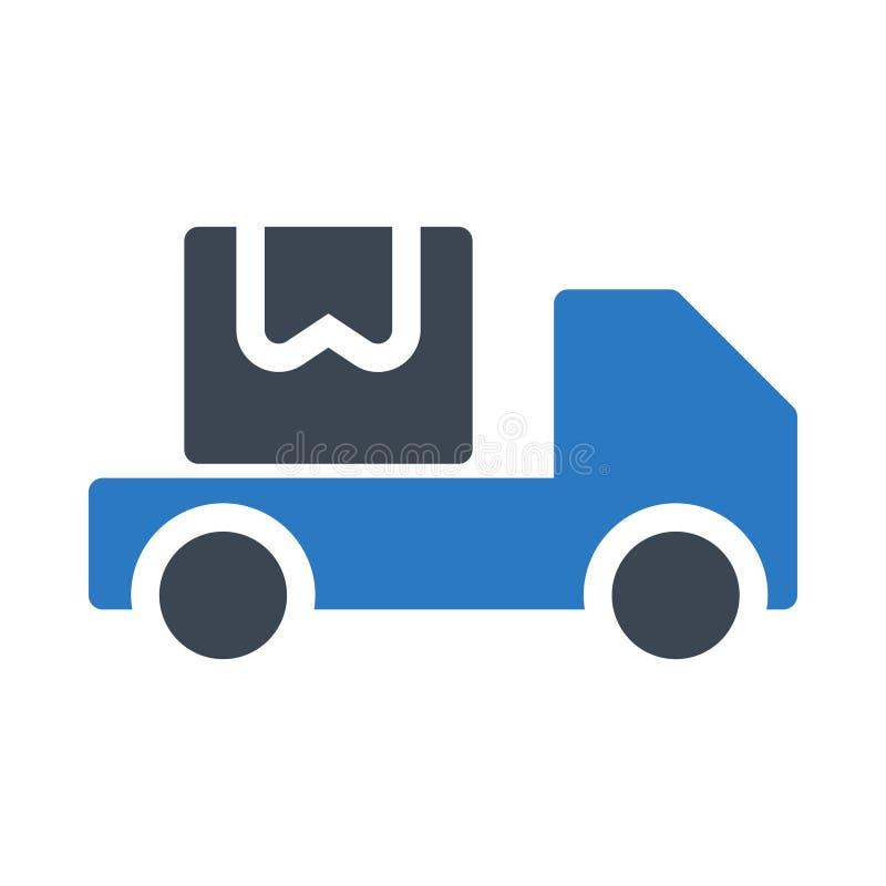 Symbol för vektor för lastbilskårafärg vektor illustrationer