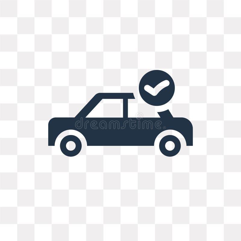 Symbol för vektor för lista för bilreparationskontroll som isoleras på genomskinlig backgr royaltyfri illustrationer