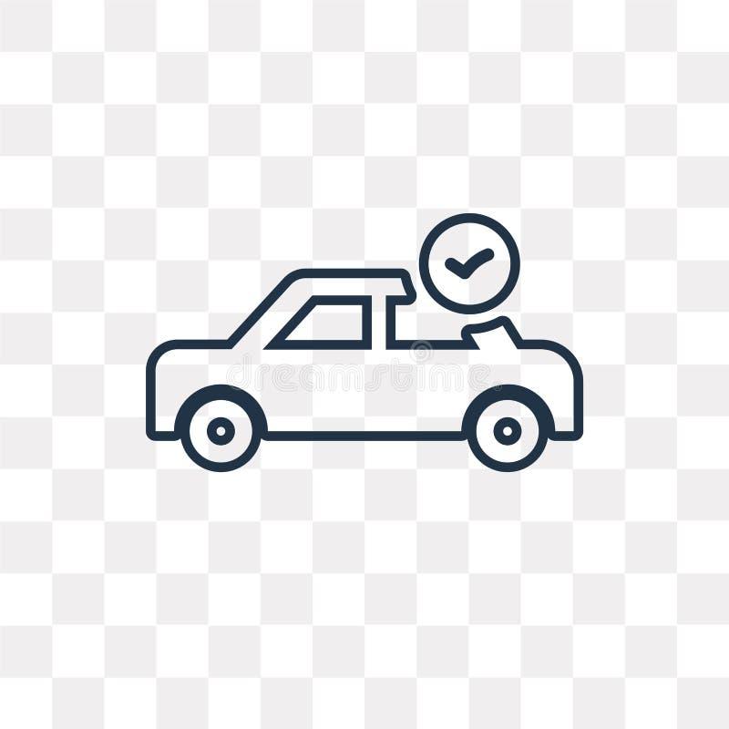 Symbol för vektor för lista för bilreparationskontroll som isoleras på genomskinlig backgr stock illustrationer