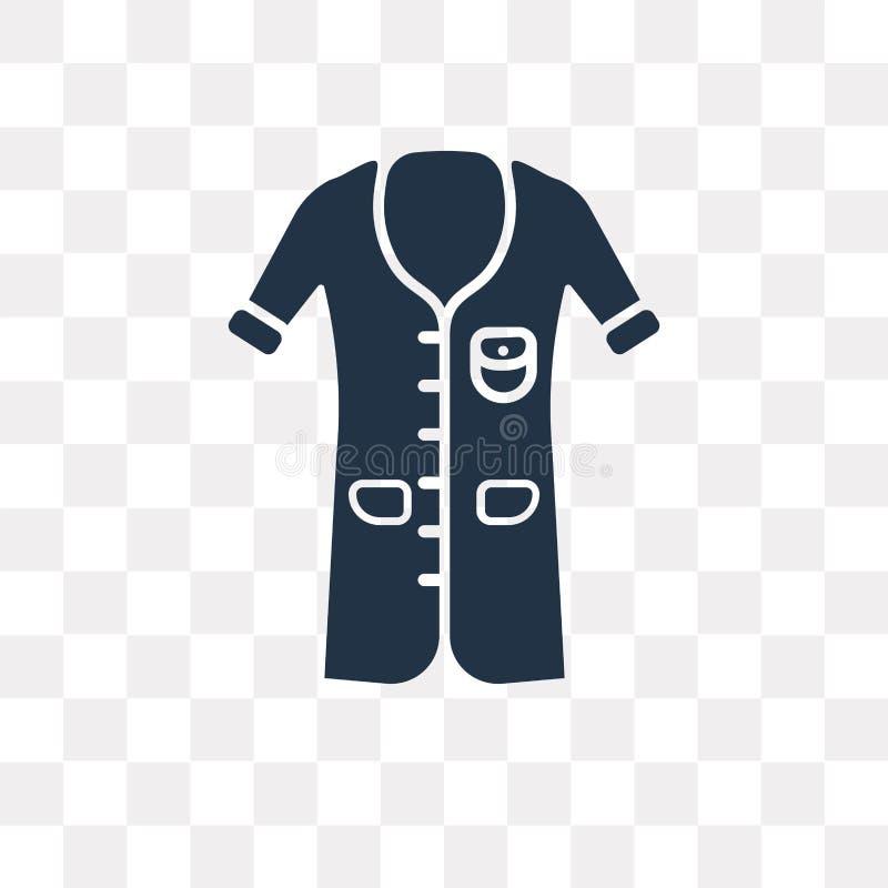 Symbol för vektor för Lyocell skjortaklänning som isoleras på genomskinlig backgrou stock illustrationer
