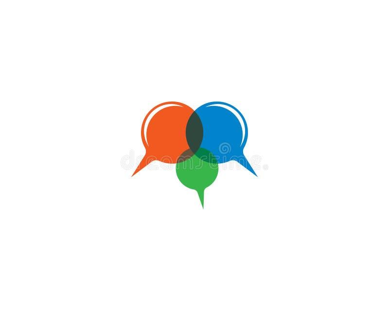 Symbol för vektor för mall för anförandebubblalogo vektor illustrationer