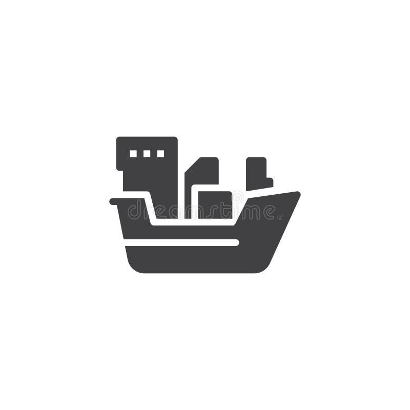 Symbol för vektor för oljetankerskepp vektor illustrationer