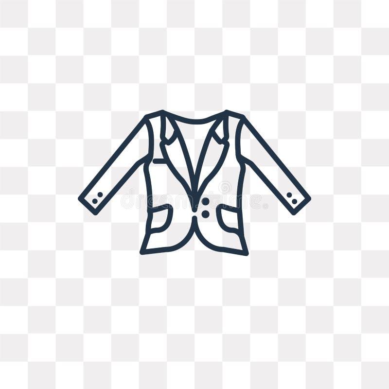 Symbol för vektor för Oxford vågblazer som isoleras på genomskinlig backgroun stock illustrationer