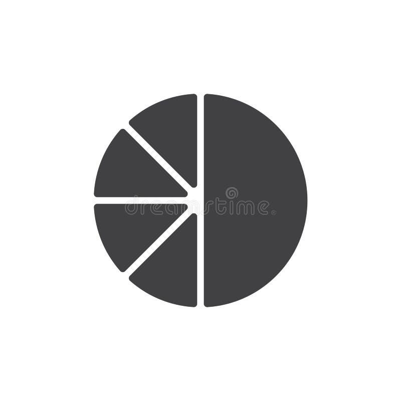 Symbol för vektor för pajdiagram royaltyfri illustrationer