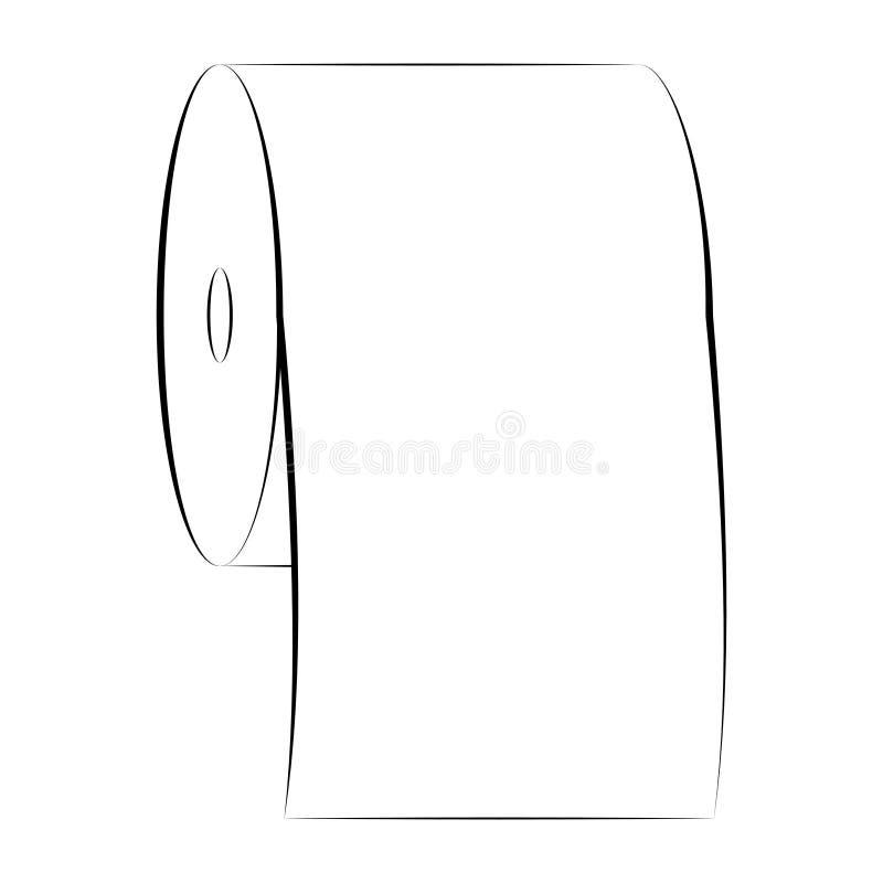Symbol för vektor för papper för toalett för symbolsteckenrulle av renhetpappershandduken vektor illustrationer