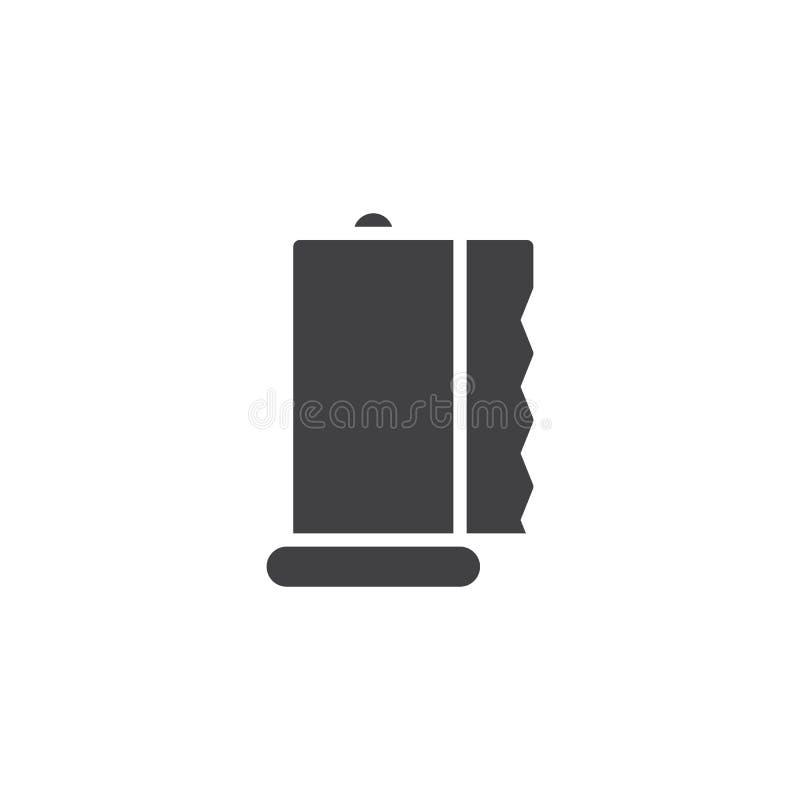 Symbol för vektor för pappers- handdukar för rulle stock illustrationer