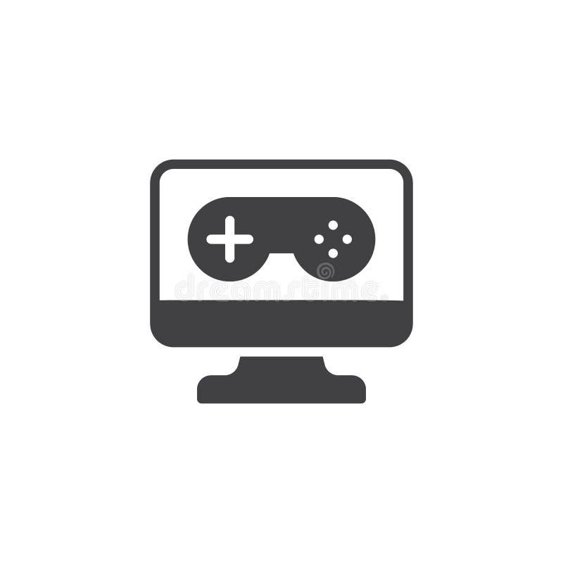 Symbol för vektor för PCvideospelkontrollant vektor illustrationer