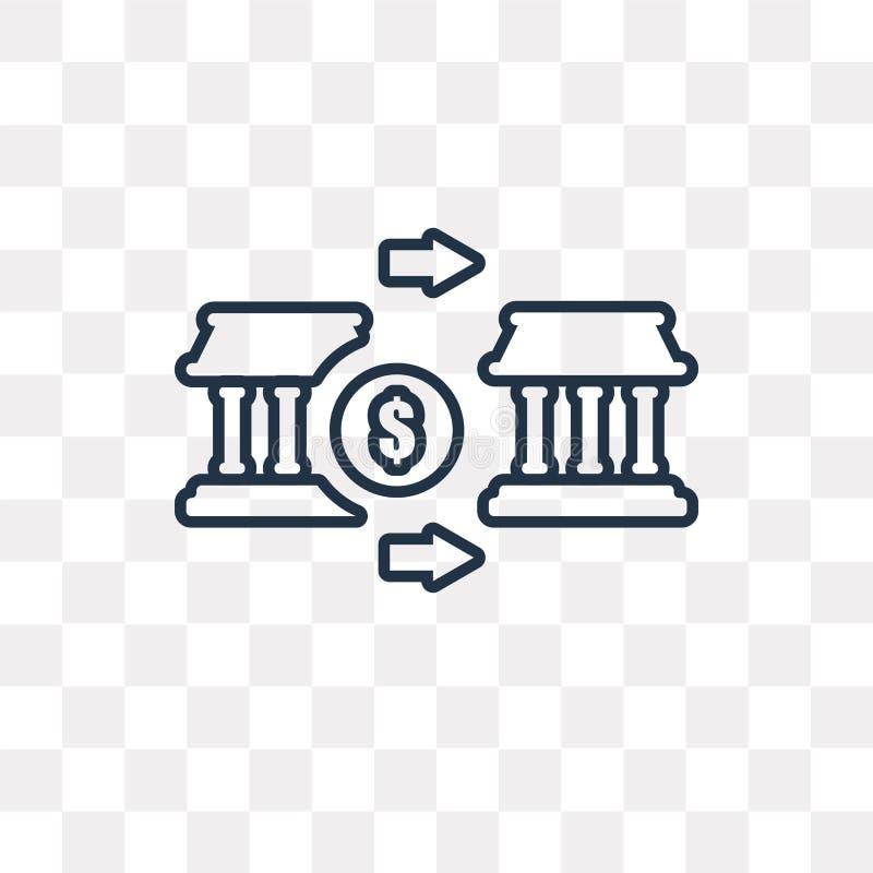 Symbol för vektor för pengaröverföring som isoleras på genomskinlig bakgrund, l royaltyfri illustrationer