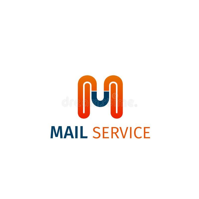 Symbol för vektor för postservice royaltyfri illustrationer