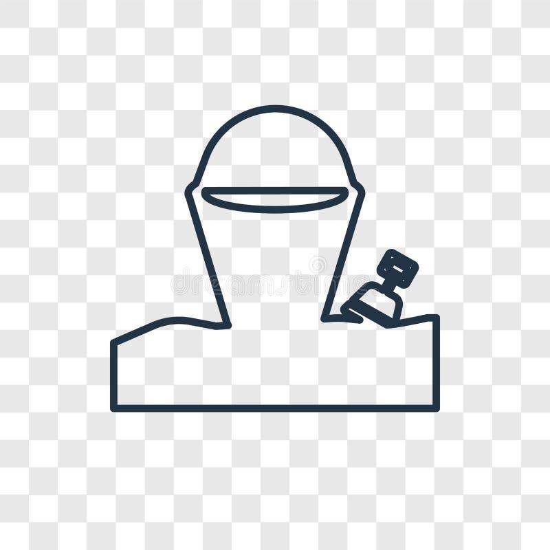 Symbol för vektor för sandhinkbegrepp som linjär isoleras på genomskinligt b stock illustrationer