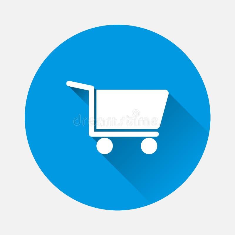 Symbol för vektor för shoppingvagn Symbol av ett lager, stormarknad, försäljningar stock illustrationer