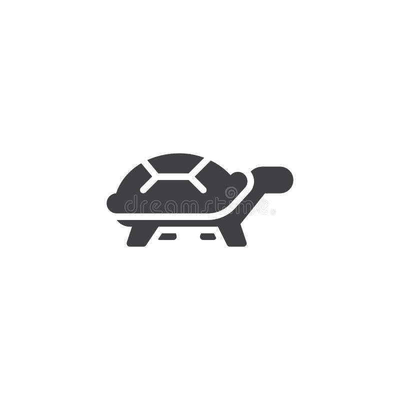 Symbol för vektor för sköldpaddasidosikt royaltyfri illustrationer