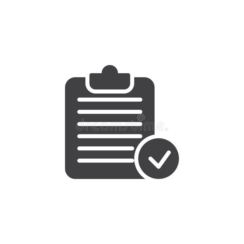 Symbol för vektor för skrivplattakontrollfläck stock illustrationer