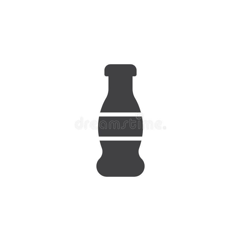 Symbol för vektor för sodavattenvattenflaska stock illustrationer