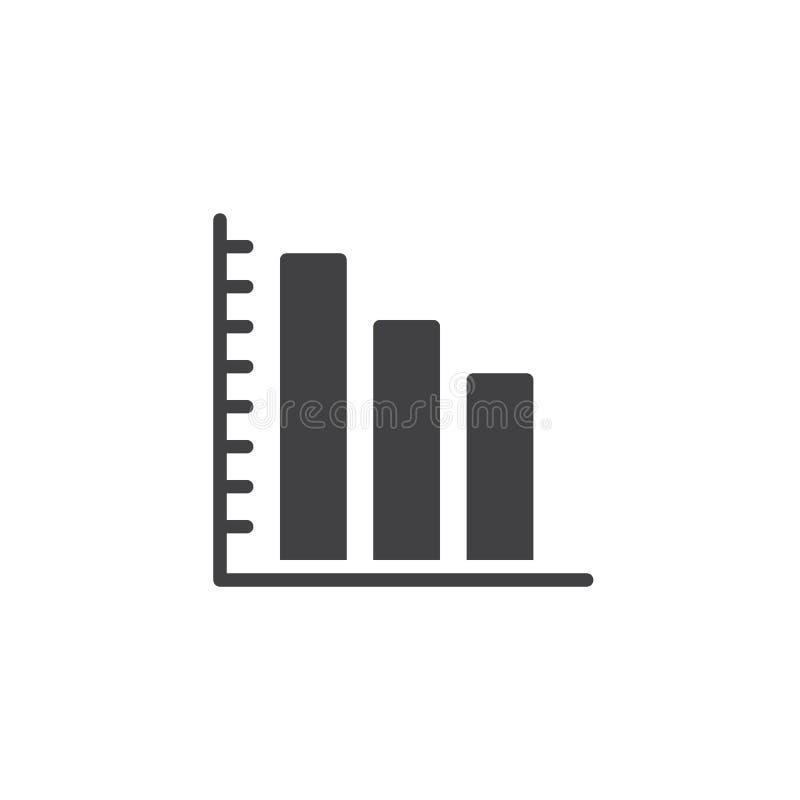Symbol för vektor för stångdiagram royaltyfri illustrationer