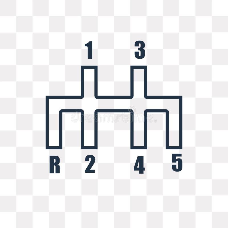Symbol för vektor för styrning för körningskugghjul som isoleras på genomskinlig backgr vektor illustrationer
