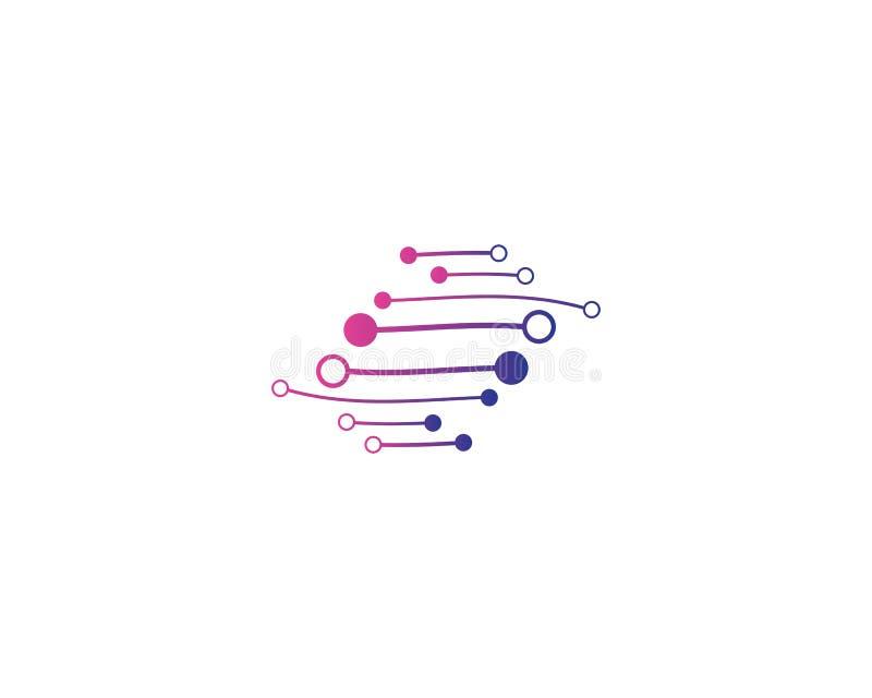 Symbol för vektor för teknologilogomall stock illustrationer