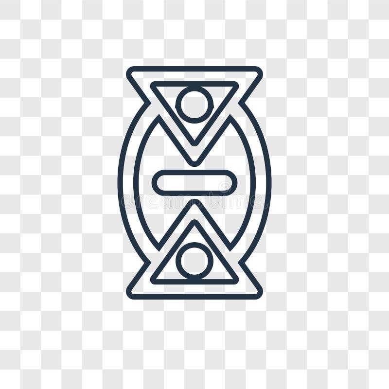 Symbol för vektor för Tid ändringsbegrepp som linjär isoleras på genomskinligt royaltyfri illustrationer