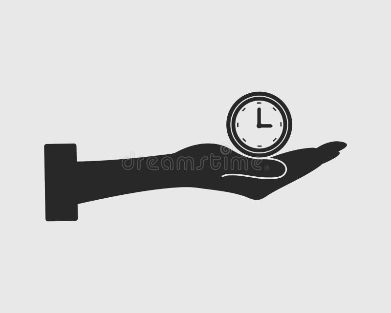 Symbol för vektor för Tid ledning royaltyfri illustrationer