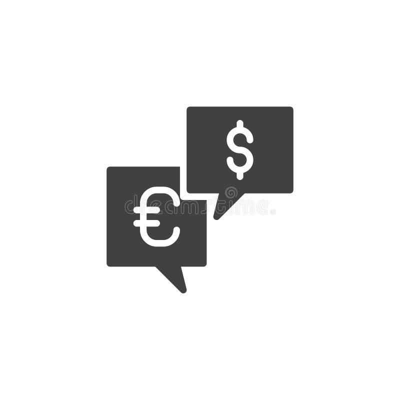 Symbol för vektor för valutapengarutbyte royaltyfri illustrationer