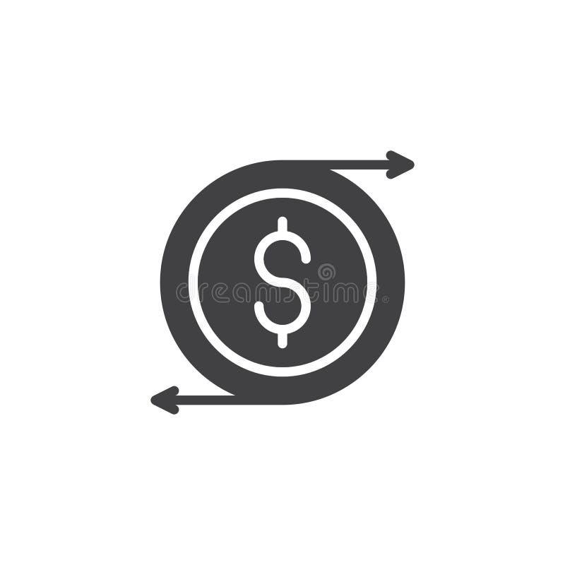 Symbol för vektor för valutautbyte stock illustrationer