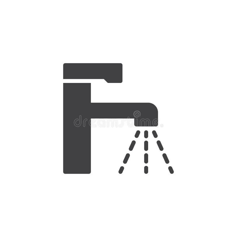 Symbol för vektor för vattenklapp royaltyfri illustrationer
