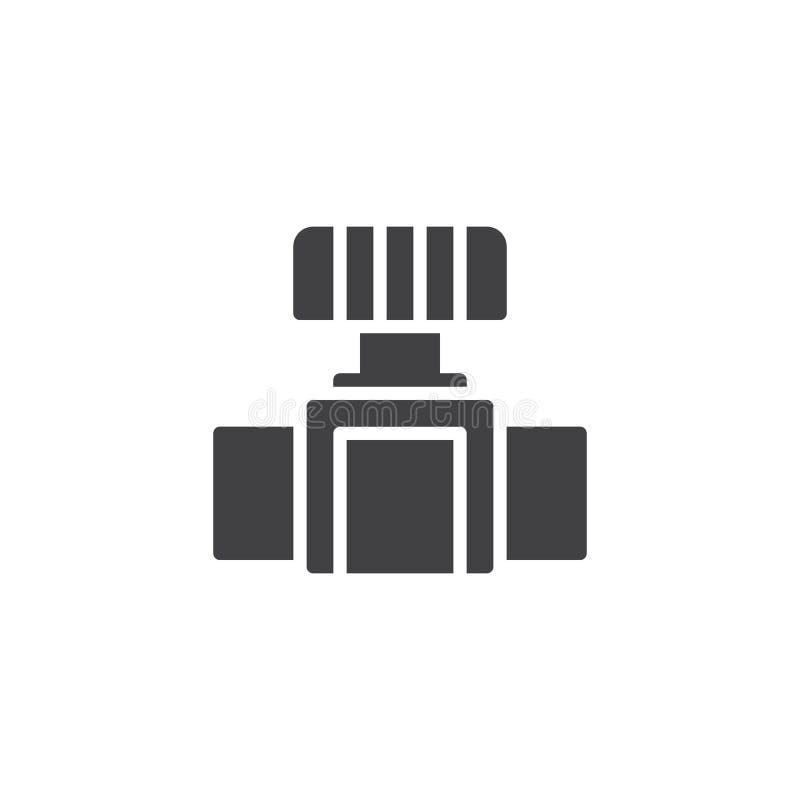 Symbol för vektor för vattenklapp stock illustrationer